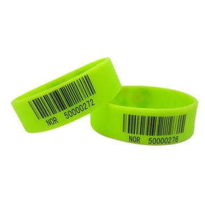 Barcode Silicone Wristband