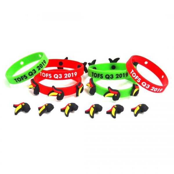 Button Silicone Wristband
