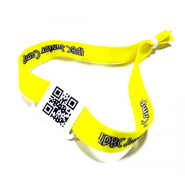 QR Code Fabric Wristbands