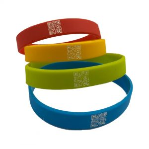 QR Code Silicone Wristbands