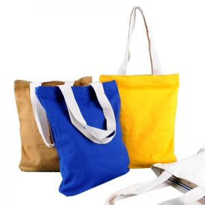 Canvas Tote Bag With Natural Color Handle