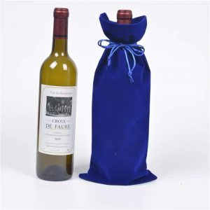 Flannel wine bag