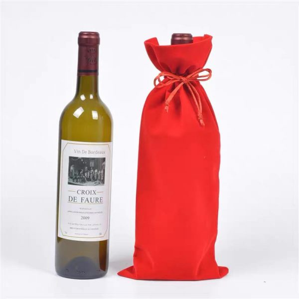 Flannel wine bag printing