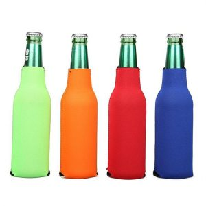 Printed zipper bottle cover