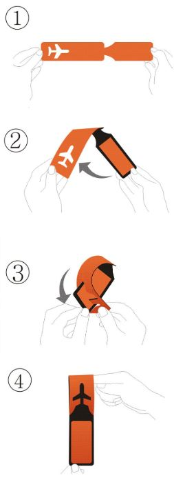 how to use PU luggage tag
