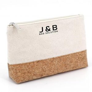 Canvas with cork zipper pouch