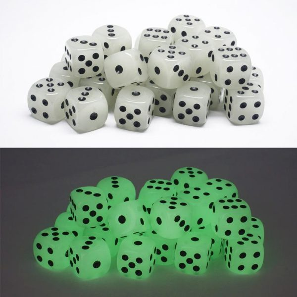 glowing in the dark dice