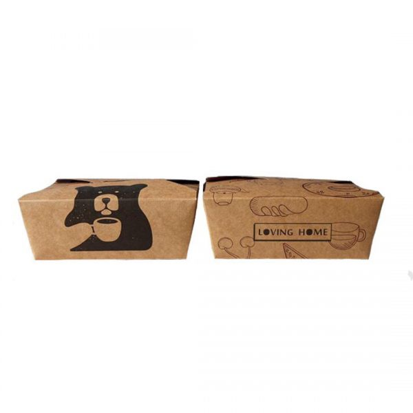 printed kraft paper lunch box