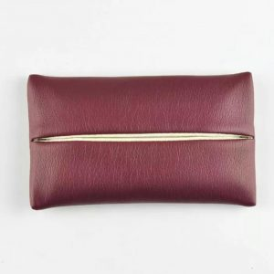leather pocket tissue cover