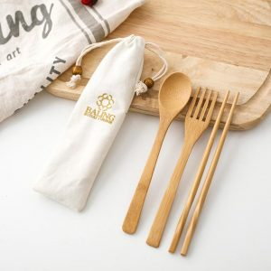 bamboo cutlery set travel