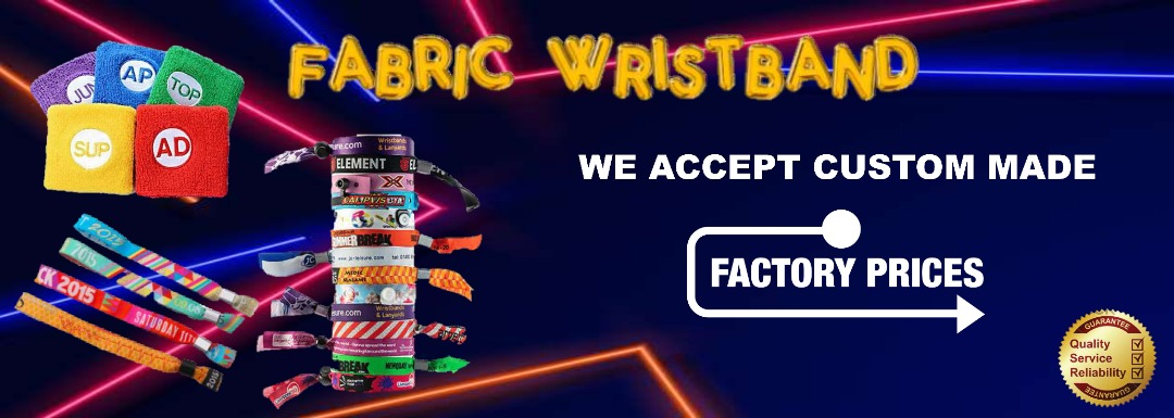 fabric wristband banner